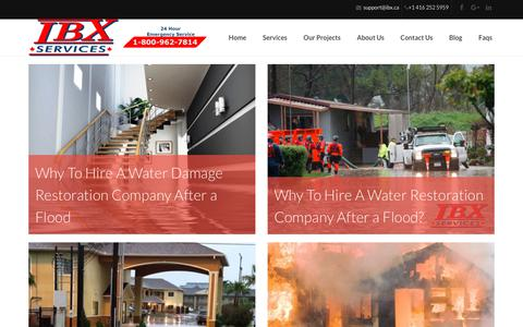 Screenshot of Blog ibx.ca - Water, Mould & Fire Damage Toronto - Ibx Blog | Emergency Services Toronto - captured Oct. 1, 2018