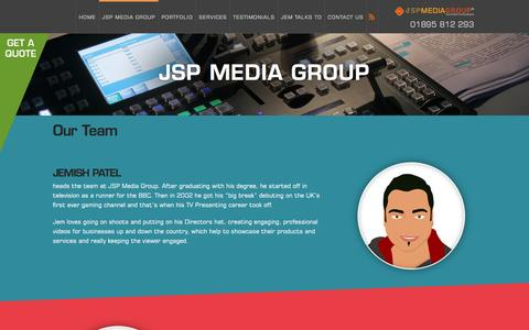 Screenshot of Team Page jspmediagroup.com - Our Team - JSP Media Group - captured July 23, 2016