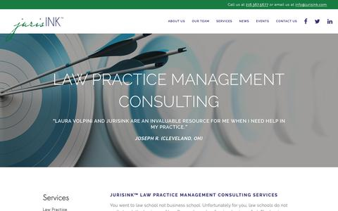 Screenshot of Services Page jurisink.com - Law Practice Management Consulting — jurisINK™ - captured Nov. 14, 2018