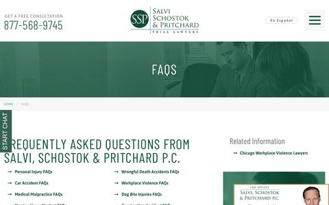Screenshot of FAQ Page salvilaw.com - Common Legal Questions We Get From Clients - captured Nov. 29, 2018