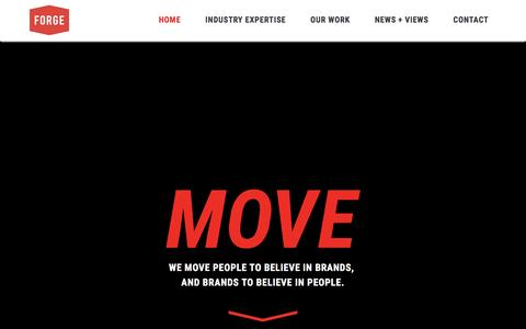 Forge Worldwide – Moving people to believe in brands, and brands to believe in people