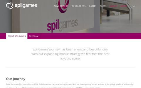 Screenshot of About Page spilgames.com - About Spil Games - Spil Games - captured July 3, 2016