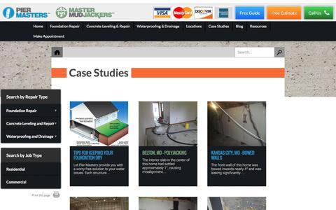 Screenshot of Case Studies Page kcmaster.com - Foundation Repair Kansas City | Case Studies - captured Nov. 27, 2016