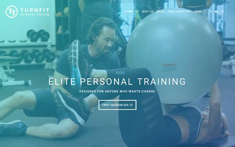 Screenshot of Home Page turnfit.ca - Vancouver Personal Trainer - Personal Trainer in Vancouver - captured May 24, 2019