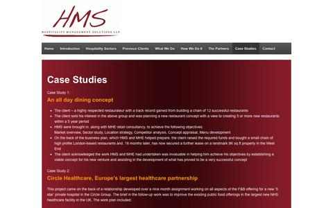 Screenshot of Case Studies Page hmspartnership.co.uk - Case Studies | HMS Partnership - captured Oct. 3, 2014