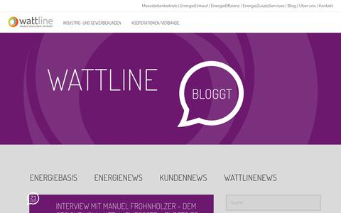 Screenshot of Press Page wattline.de - wattline bloggt - News aus der Energiewelt - captured Oct. 18, 2018