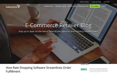 Screenshot of Blog selleractive.com - SellerActive | E-Commerce Blog - captured Sept. 22, 2018