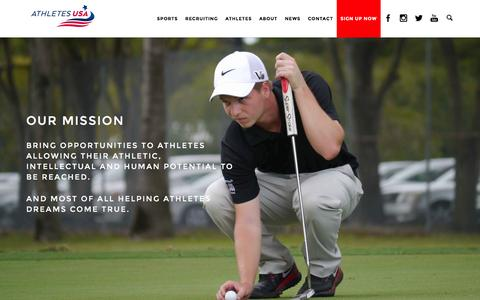 Screenshot of About Page athletes-usa.com - About us | Worlds no.1 Sport Scholarship Agency | Athletes USA - captured Dec. 27, 2015