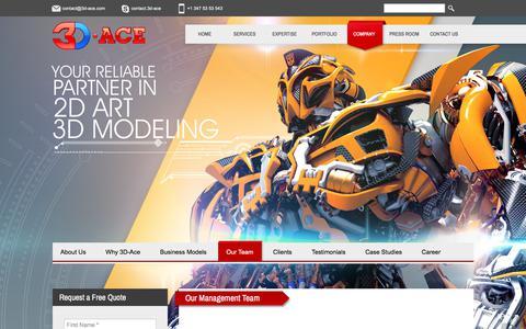 Screenshot of Team Page 3d-ace.com - Our Management Team | 3D-Ace Studio - captured Sept. 22, 2017
