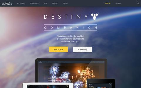 Screenshot of Developers Page bungie.net - Destiny Companion | Bungie.net - captured June 3, 2017