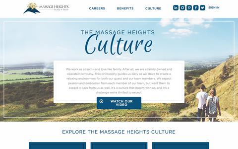 Culture| Massage Heights Careers