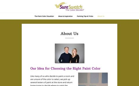 Screenshot of About Page sureswatch.com - Color Visualizer | SureSwatch - captured Nov. 14, 2017
