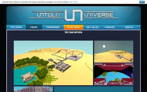 Screenshot of Press Page untold-universe.com - Untold Universe | Screenshots and Arts - captured Nov. 3, 2014