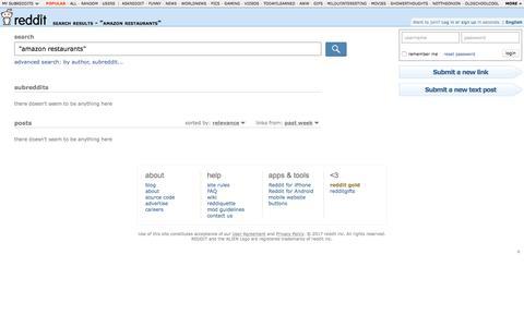 "reddit.com: search results - ""amazon restaurants"""