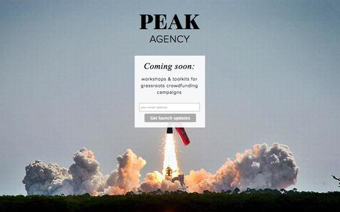 Screenshot of Home Page peakagency.co - Peak Agency - captured Sept. 29, 2014