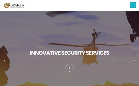 Screenshot of Home Page spartaltd.com - SPARTA IS A TOP NOTCH SECURITY & STRATEGIC SERVICES AGENCY - captured Sept. 21, 2017