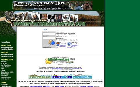 Screenshot of Login Page upnorthfishingphotos.com - UpNorth Fishing Photos LoginFishing Northern Wisconsin and the Western UP of Michigan - captured March 7, 2016