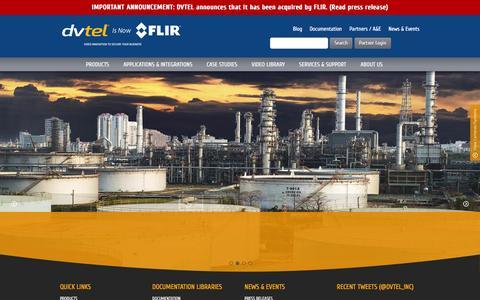 Screenshot of Home Page dvtel.com - DVTEL - Video innovation to secure your business - captured Feb. 8, 2016