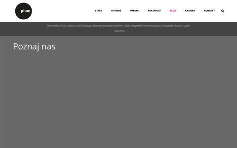Screenshot of Blog plum.com.pl - Plum Web Solutions   –  Blog - captured Oct. 22, 2014