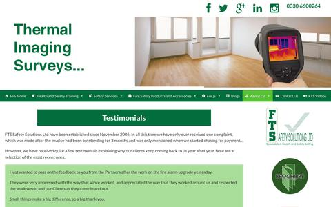Screenshot of Testimonials Page ftssafetysolutions.co.uk - Testimonials - FTS Safety Solutions - captured Oct. 10, 2018