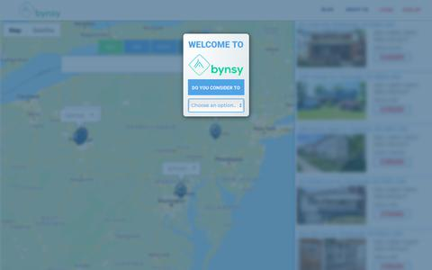 Screenshot of Login Page bynsy.com - Bynsy - captured Dec. 19, 2018