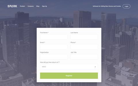 Screenshot of Signup Page spark.re - Sign Up - Spark - captured Dec. 26, 2016