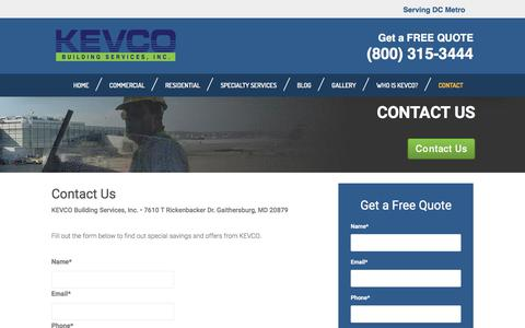 Contact Us | KEVCO Building Services