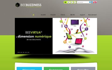 Screenshot of Home Page beebuzziness.com - HOME-page d'accueil - BEEBUZZINESS - captured Dec. 28, 2015