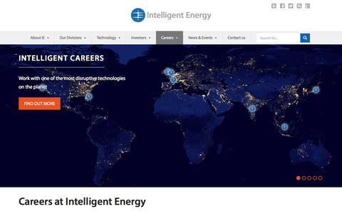 Screenshot of Jobs Page intelligent-energy.com - Careers | Intelligent Energy - captured June 17, 2015