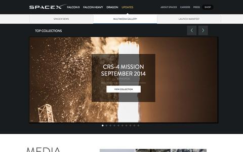 Screenshot of Press Page spacex.com - Media Gallery | SpaceX - captured Oct. 26, 2014