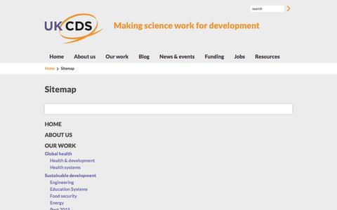Screenshot of Site Map Page ukcds.org.uk - Sitemap | UKCDS - captured Sept. 30, 2014