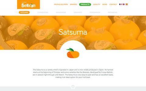 Screenshot of Products Page frutasbeltran.com - Satsuma | Frutas Beltrán - captured June 4, 2016