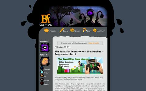 Screenshot of Developers Page beautifungames.com - BeautiFun Games: developer - captured Sept. 30, 2014