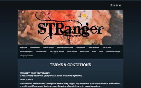 Screenshot of Terms Page sheristranger.com - Terms & Conditions - sheristranger.com - captured Oct. 7, 2014