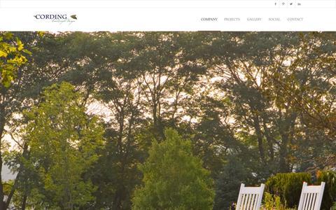 Screenshot of Services Page cordinglandscape.com - Landscape Design, Construction, Maintenance in New Jersey - captured Oct. 3, 2014