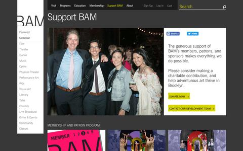 Screenshot of Support Page bam.org - BAM | Support BAM - captured Sept. 24, 2018