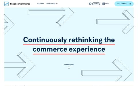Screenshot of About Page Contact Page reactioncommerce.com - Reaction Commerce | The last commerce platform you'll ever need. - captured June 12, 2017