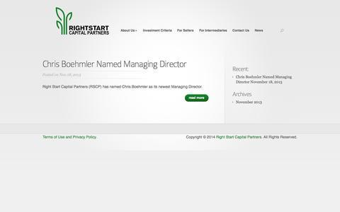 Screenshot of Press Page rightstartcapital.com - News | Right Start Capital Partners - captured Oct. 7, 2014
