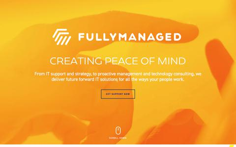 Screenshot of Home Page fullymanaged.com - Fully Managed IT Support & Services — Vancouver, Edmonton, Calgary - captured Aug. 23, 2018