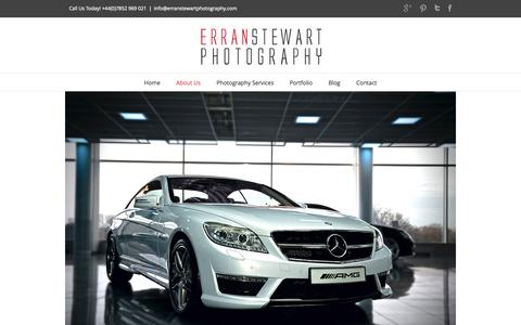 Screenshot of About Page erranstewartphotography.com - Commercial and corporate photographer in London - captured Sept. 30, 2014