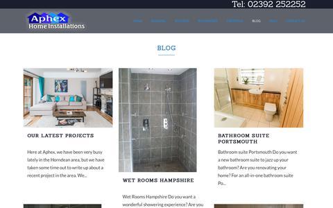 Screenshot of Blog aphexuk.com - Blog | Building Alterations, Extensions Hampshire | Aphex Home Installations, Hampshire - captured Oct. 3, 2018