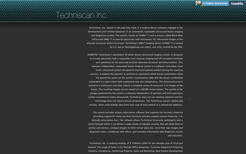 Screenshot of Contact Page tumblr.com - Techniscan Inc.  - Contact Us - captured Sept. 11, 2014