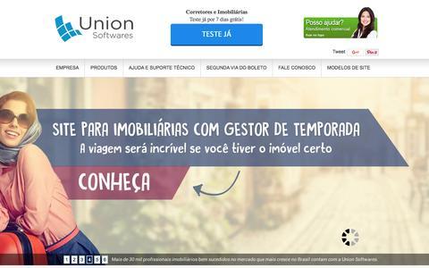 Screenshot of Home Page uso.com.br - Sistema para Imobiliária + Site para Imobiliária - captured Feb. 17, 2016