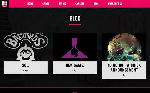 Screenshot of Blog dlalastudios.com - Blog - Dlala Studios - captured Aug. 7, 2018