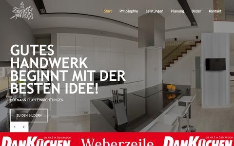 Screenshot of Home Page hofmannplan.at - Start < Hofmann Plan Einrichtungen - captured June 8, 2016
