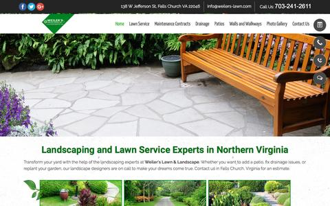Screenshot of Home Page weilers-lawn.com - Landscaping, Lawn Care — Falls Church, VA — Weiler's Lawn & Landscape - captured April 13, 2017