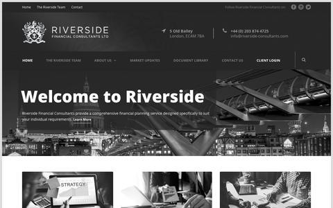 Screenshot of Home Page riverside-consultants.com - Riverside Financial Consultants - captured Sept. 24, 2018