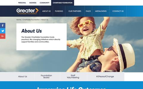 Screenshot of About Page greater.com.au - About Us | Greater Bank Limited - captured Jan. 30, 2017