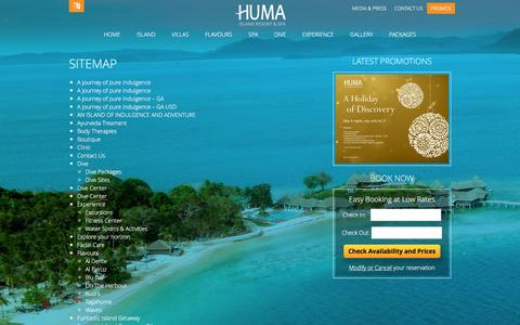 Screenshot of Site Map Page humaisland.com - Sitemap - captured Feb. 2, 2016