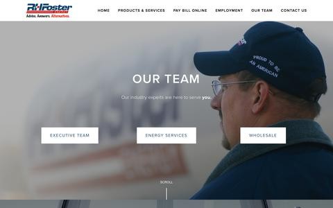 Screenshot of Team Page rhfoster.com - Our Team — R. H. Foster Energy - captured Sept. 20, 2018
